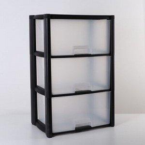 Комод 3-x секционный «Колорит», цвет чёрный