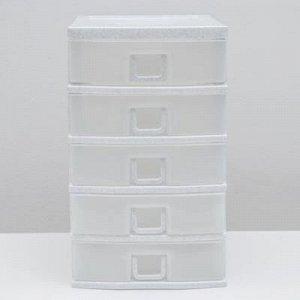Комод 5-х секционный, цвет белый