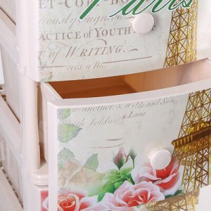 Комод 4-х секционный «Париж», цвет белый