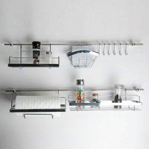 Рейлинговая система для кухни: базовый набор, 16 предметов