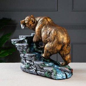 """Мини-бар """"Медведь"""", цвет разноцветный, 33 см"""