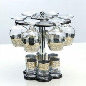 Мини-бар 12 предметов коньяк, флоренция, темный 350/50 мл