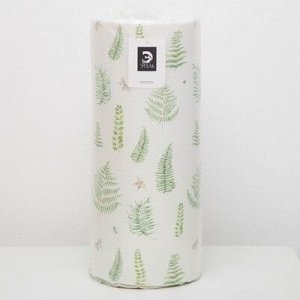 Подушка на шезлонг Листья 55?190+2 см, репс с пропиткой ВМГО, 100% хлопок