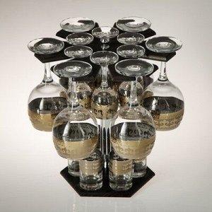 Мини-бар 18 предметов вино Карусель Византия, темный 240/55/50 мл