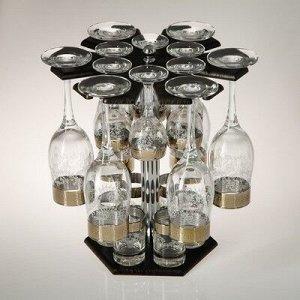 Мини-бар 18 предметов шампанское Карусель гравировка, темный 200/55/50 мл