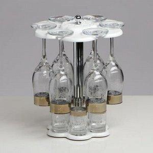 Мини-бар 12 предметов шампанское, гравировка, белый 200/50 мл