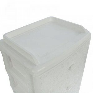 Комод широкий 4-х секционный «Лаура», цвет белый