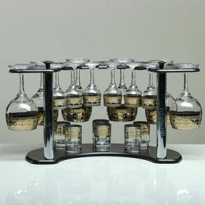 Мини-бар 18 предметов вино, византия, темный 240/55/50 мл