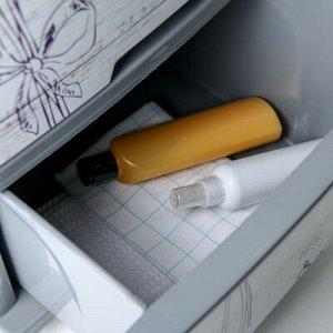 Комод 4-x секционный «Лаванда», цвет серый