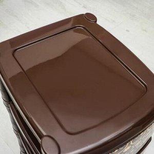 Комод 3-x секционный «Элегант тёмный», цвет коричневый