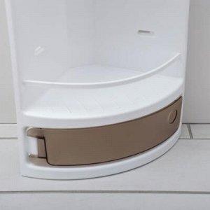 Полка для ванной угловая, 19?19?46,5 см, цвет тонированный