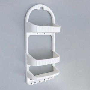 Полка для ванной комнаты, 27?12,5?62 см, цвет белый