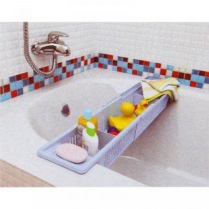 Полка на ванну Toys, 57-89 см, цвет снежно-белый
