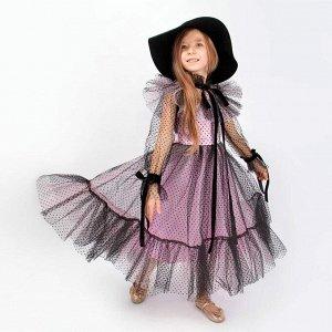 Платье Соль&Перец для девочки/Цвет: розовый-черный