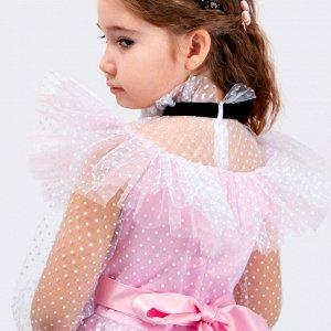 Платье Соль&Перец для девочки/Цвет: розовый-белый