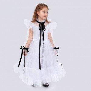 Платье Соль&Перец для девочки/Цвет: белый