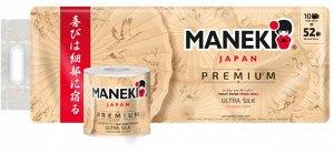 Maneki Бумага туалетная KABI 3 слоя 280л.39.2м.гладкая белая с ароматом Ромашки 10рул/упак