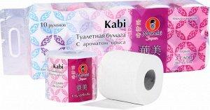 Туалетная бумага Maneki Kabi 3-х слойная c ароматом Ириса 10 рулонов/упак
