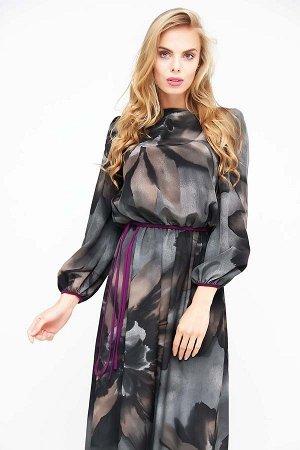 Очень красивое платье в пол  42-44-46 размер серый цвет