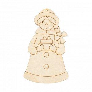 Деревянная заготовка Снегурочка 8,5*5см
