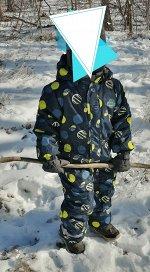 Подростковый для мальчика зимний комбинезон желтого цвета