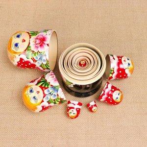 """Матрешка """"Цветы"""" , 7-кукольная,  10х20 см, ручная роспись"""