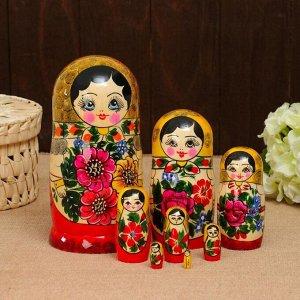 Матрёшка «Русская красавица», жёлтый платок, 9 кукольная, 20 - 22см 196555