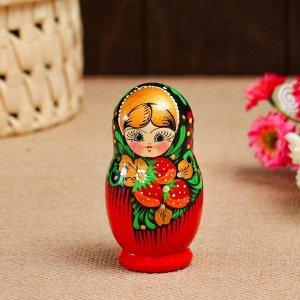"""Матрешка """"Платочек"""", 5-кукольная, 10 см, ручная роспись"""