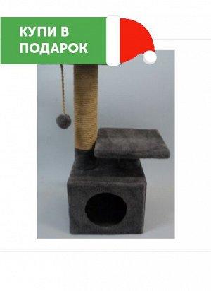"""Дом-когтеточка """"Твикси"""" квадратный с 2-мя полками 30x30x65см"""