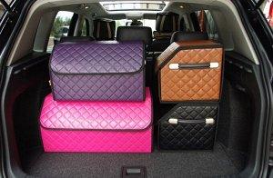 Органайзер короб в багажник розовый средний M