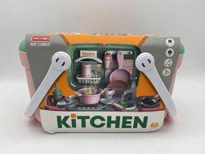 Набор Кухня в чемодане 2 в 1 30 дет  возраст 3+