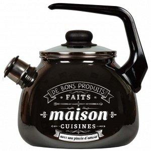 Чайник Чайник эмал 3,0л со свистком Maison ТМ Appetite Материал: эмалированная сталь Коллекция/серия: Maison Торговая марка: Appetite Толщина дна: 1 Толщина стенок: 1 Источник тепла: Все виды плит Тип