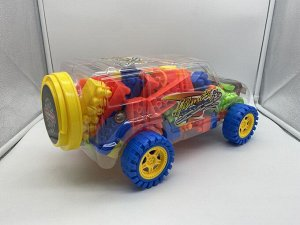 Конструктор в виде джипа на колесах 3+