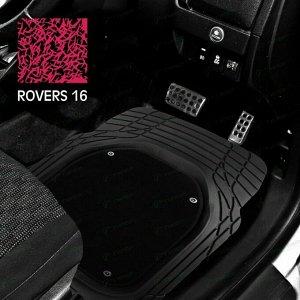 Коврики универсальные CARFORT ROVERS 16 для переднего и заднего ряда, черный цвет, ванночка, со съемным ковролином, 4шт