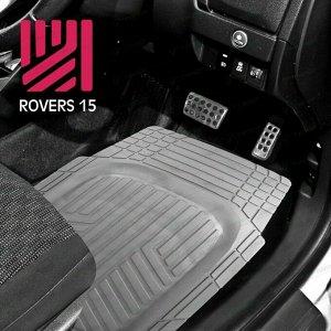 Коврики универсальные CARFORT ROVERS 15 для переднего и заднего ряда, серый цвет, ванночка, 4шт