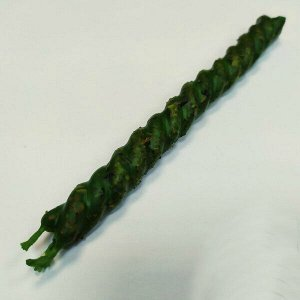 Свеча скрутка зеленая с травами Здоровье