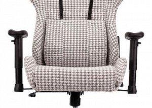 Кресло игровое Бюрократ VIKING LOFT серый Morris гусин.лапка с подголов. крестовина металл