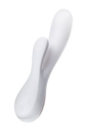 Нереалистичный вибратор Satisfyer Mono Flex, Силикон, Белый, 20,4 см