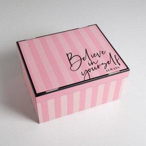 Коробка складная «Для тебя», 31,2 х 25,6 х 16,1 см
