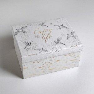 Коробка складная «Шебби», 31,2 х 25,6 х 16,1 см