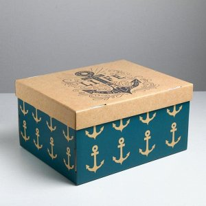 Коробка складная «Морская», 31,2 х 25,6 х 16,1 см