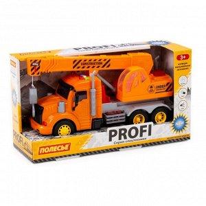 """""""Профи"""", автомобиль-кран инерц.(оранжевый) (в коробке) 86617 (1/8)"""
