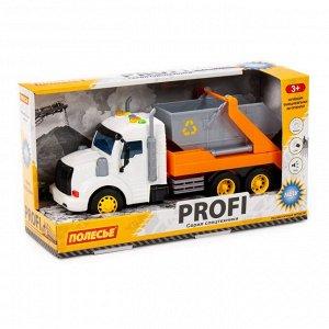 """""""Профи"""", автомобиль-контейнеровоз инерц (оранжевый) (в коробке) 86266 (1/8)"""