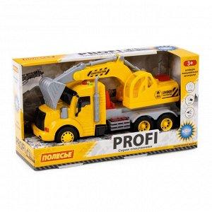 """""""Профи"""", автомобиль-экскаватор инерц. (жёлтый) (в коробке) 86440 (1/8)"""