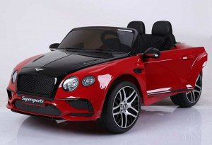 Машина на аккумуляторе для катания детей JE1155 Bentley (красный)