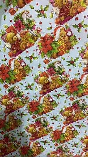 """Подарочная бумага в рулоне """"Новогодняя"""""""