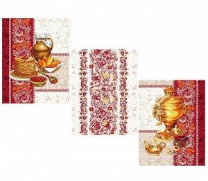 Комплект вафельных полотенец 48*60 см, 3 штуки (Слобода)