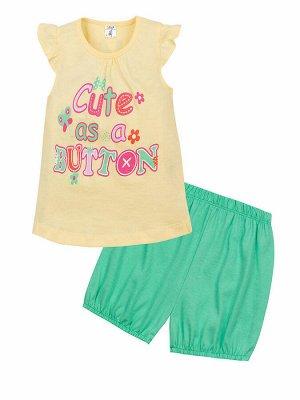 """Комплекты для девочек """"Cute as babies"""", цвет Желто-зеленый"""