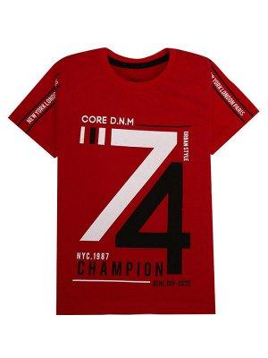 """Футболки для мальчиков """"74 red"""", цвет Красный"""