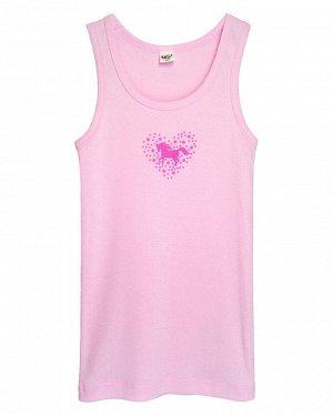 """Майка для девочек """"Единорог 2"""", цвет Светло-розовый"""